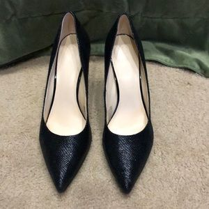 "Nine West black pumps, 4"" heel, Sz 10M"